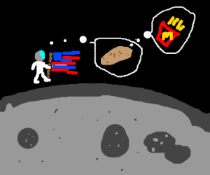 One small leap for mankind, and potato