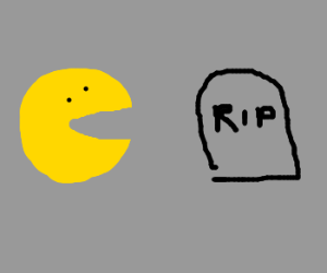 Emoticon reflects upon emoticon death.