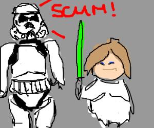 Storm Trooper thinks Luke is Rebel Scum