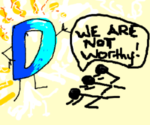 drawception D is being worshiped