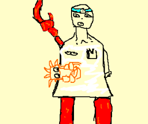 a crab climbing a crab doctor.
