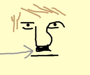 Evil hitler's mustache