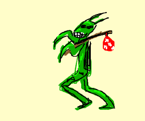 Happy hobo grasshopper