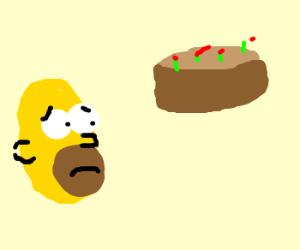 Depressed Simpson likes Cakes