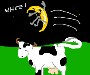 Moon jumps over the cow, bitch.