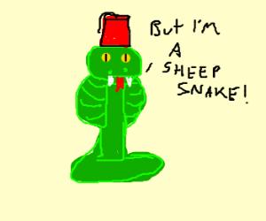 Cobra with fez has identity crisis