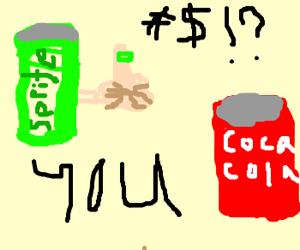 Sprite gives Coke the finger