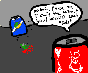 Crushed Coca Cola Can