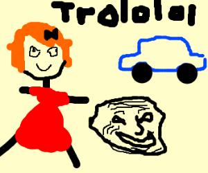 Car is terrible at trolling random girl