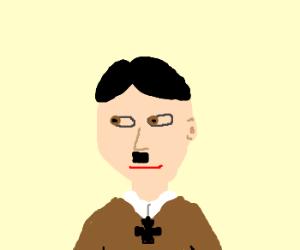 Hitler looks pensively askance