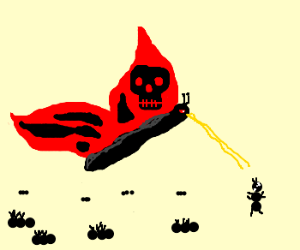 Butterfly og doom is killing ants.