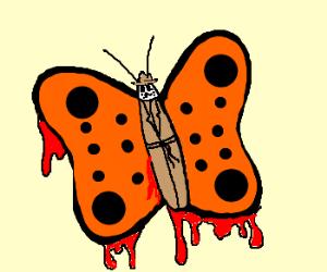 Rorschach butterfly is bleeding