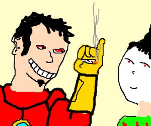 Tony Stark asks geisha if she wants weed