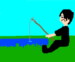 emo kid goes fishing