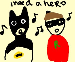 "Batman+Robin sing Tyler's""I need a Hero"""
