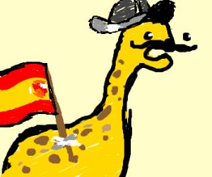 Conquistador meets Giraffe