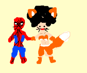 Spiderman is best friends with foxy lady