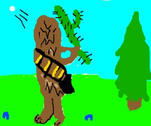 Chewbacca swings his cactus club