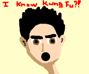 Neo can't believe he knows Kung Fu