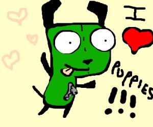 Gir loves puppies. =3
