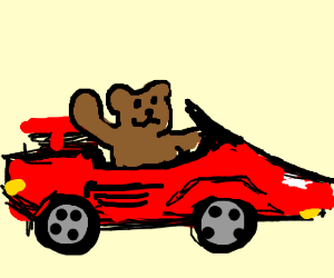 Oh No, Bear is Driving