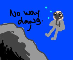 underwatr cave denies scubadiver treasur