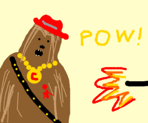 Funky Chewie gets shot