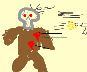 Terminator the bear cannot dodge bullets