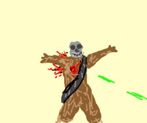 Skull Chewbaca shot