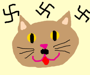 Heil Katze! The cutest dictator around!