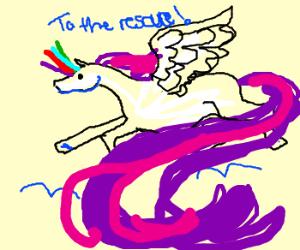 Rainbow Quadricorn