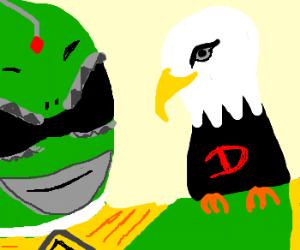 green ranger has a deagle