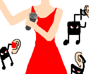 lady in red's singing hurts the ears