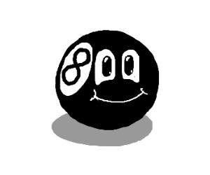Smiling 8-ball