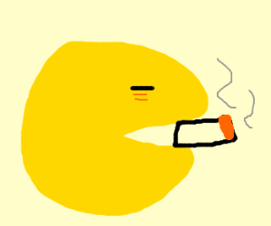 pacman takes up smoking