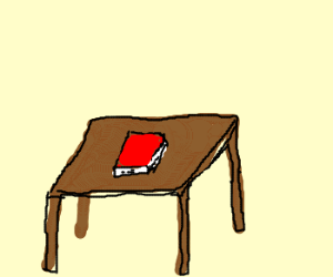 The Book Is On The Table Drawception