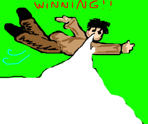 Charlie Sheen the flying winning machine