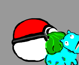 pokeball noms on bulbasaur