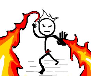 Firebender attacks!! OHNO!!