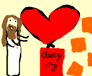 Jesus just loves cheez-its!