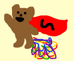 super-bear farts rainbow