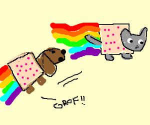 Nyan-dog Chasing Nyan-cat