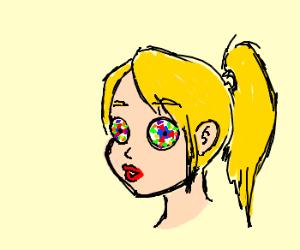 Girl with Kaleidoscope eyes.