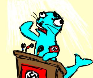 Nazi seal gives a speech