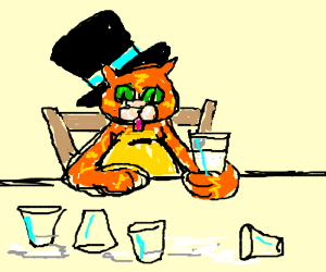 thirsty top hat cat fat sat