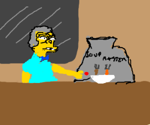 Moe's patented Soupmaster 2000