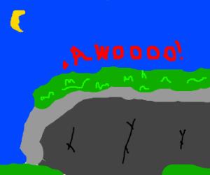 A liken howls at the moon.