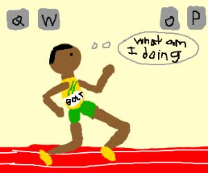 Usain Bolt gets QWOP-ed