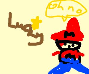 Lucky steals Mario's Star!