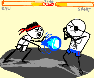 Street fighter with a lot of time